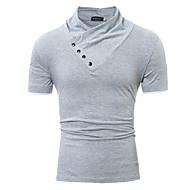 Majica s rukavima Muškarci Dnevno Pamuk Jednobojni
