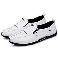 メンズ 靴 ラバー 春 秋 モカシン ローファー&スリップアドオン のために ホワイト ブラック オレンジ