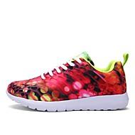 baratos Sapatos Masculinos-Homens Solas Claras Com Transparência / Couro Ecológico Outono / Inverno Conforto Tênis Corrida Roxo / Fúcsia