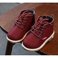 baratos Sapatos de Menino-Para Meninos Sapatos Couro Ecológico Outono / Inverno Conforto / Coturnos Botas para Preto / Marron / Vinho / Botas Curtas / Ankle