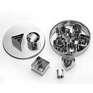 billige Bakeredskap-Bakeware verktøy Rustfritt Stål + A-klasse ABS Varmebestandig / baking Tool Til Småkaker Pieverktøy