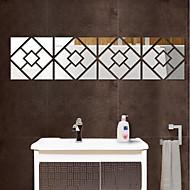 halpa -Peilit 3D Wall Tarrat 3D-seinätarrat Peilitarrat Koriste-seinätarrat,Vinyyli Kodinsisustus Seinätarra Seinä Lasi / WC