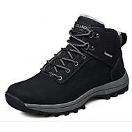 Masculino sapatos Camurça Inverno Outono Conforto Botas de Neve Botas Caminhada Botas Curtas / Ankle Rendado para Casual Preto Castanho