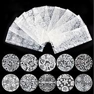 preiswerte -10 Nagel-Aufkleber Nagel-Aufkleber Weiß Nagel-Kunst-Design-Dekoration