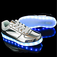 cheap Women's Sneakers-Women's Shoes Patent Leather Customized Materials Leatherette Winter Spring Comfort Light Up Shoes Sneakers Flat Heel Round Toe for