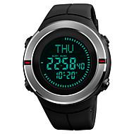 SKMEI Herre Digital Watch Armbåndsur Sportsur Japansk Digital Alarm Kalender Kronograf Vandafvisende Selvlysende i mørke Stopur Kompas PU