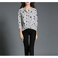 Majica Žene V izrez Print Poliester