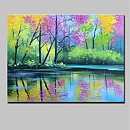 cheap Oil Paintings-Hand-Painted Landscape Horizontal,Modern Canvas Oil Painting Home Decoration One Panel