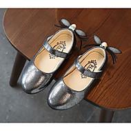baratos Sapatos de Menina-Para Meninas Sapatos Courino Primavera Conforto / Coturnos / Sapatos para Daminhas de Honra Rasos Caminhada Presilha para Dourado / Prata