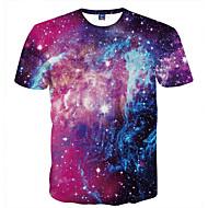 Χαμηλού Κόστους -Ανδρικά T-shirt Κλαμπ Πανκ & Γκόθικ Κομψό στυλ street Στρογγυλή Λαιμόκοψη Στάμπα