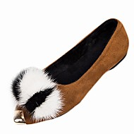cheap Women's Flats-Women's Shoes Suede PU Nubuck leather Winter Fall Comfort Flats Flat Pointed Toe for Casual Black Brown