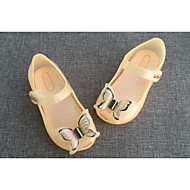 baratos Sapatos de Menina-Para Meninas sapatos Pele PVC Primavera Verão Tênis com LED Chinelos e flip-flops LED para Casual Branco Preto Laranja Rosa claro