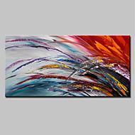 baratos -Pintura a Óleo Pintados à mão - Abstrato Simples Modern Tela de pintura