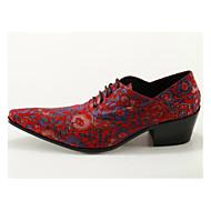 baratos Sapatos Masculinos-Homens Sapatos formais Couro Primavera / Outono Temática Asiática Oxfords Fúcsia / Casamento / Festas & Noite / Sapatas de novidade