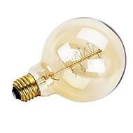 billige Glødelampe-1pc 40W E26/E27 G95 Varm hvit 2200 K Kontor / Bedrift Mulighet for demping Dekorativ AC 220-240 V