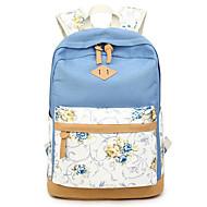billige Skoletasker-Dame Tasker polyester / Lærred Skoletaske Mønster / tryk / Lynlås for Afslappet Himmelblå / Kakifarvet / Marineblå