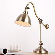 Yksinkertainen Säädettävä Pöytälamppu Käyttötarkoitus Metalli 220V Tumman keltainen