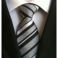 cheap Men's Accessories-Men's Polyester Necktie,Work Casual Striped All Seasons Gray
