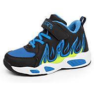 tanie Obuwie chłopięce-Dla chłopców Obuwie Syntetyczny Microfiber PU Jesień Wygoda Adidasy na Czerwony / Królewski błękit