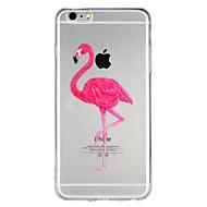 billiga Mobil cases & Skärmskydd-fodral Till Apple iPhone 6 iPhone 7 Genomskinlig Mönster Läderplastik Skal Flamingo Tecknat Djur Mjukt TPU för iPhone X iPhone 8 Plus