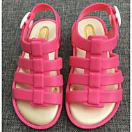 baratos Sapatos de Menina-Para Meninas Sapatos PVC Verão Conforto / Plástico Sandálias para Laranja / Fúcsia / Rosa claro