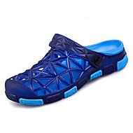 お買い得  メンズスリッパ&ビーチサンダル-男性用 靴 PUレザー 春 夏 コンフォートシューズ スリッパ&フリップ・フロップ のために カジュアル グレー Brown グリーン ブルー