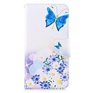 billiga Mobil cases & Skärmskydd-fodral Till Xiaomi Redmi 5 Plus Redmi not 5A Korthållare Plånbok med stativ Lucka Magnet Fodral Fjäril Blomma Hårt PU läder TPU för Redmi