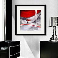 billige Innrammet kunst-folk fantasi Tegning Veggkunst,PVC Materiale med ramme For Hjem Dekor Rammekunst Stue Kjøkken Spisestue Soverom Kontor Barnerom