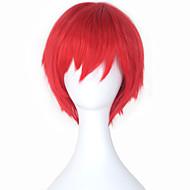 Perruques de Cosplay Assassinat de classe Rouge Manga Perruques de Cosplay 12 pouce Fibre résistante à la chaleur Homme Femme Perruques d'Halloween