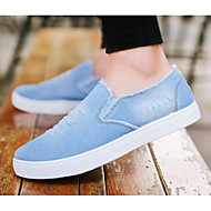 baratos Sapatos Masculinos-Homens Jeans Primavera / Outono Conforto Mocassins e Slip-Ons Azul Escuro / Azul Claro
