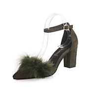 baratos Sapatos Femininos-Mulheres Couro Ecológico Primavera / Verão Conforto / Botas da Moda Rasos Sem Salto Dedo Apontado Pérolas / Apliques Preto / Castanho Escuro / Khaki