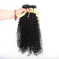3 komada Crna Kinky Curly Brazilska kosa Isprepliće ljudske kose Ekstenzije za kosu