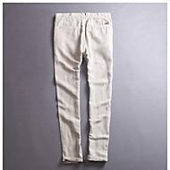 Bărbați Comun In Pantaloni Sport Pantaloni - Mată Alb / Primăvară