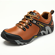 cheap Men's Athletic Shoes-Men's Shoes Nappa Leather Spring Summer Comfort Athletic Shoes Hiking Shoes for Athletic Casual Black Light Brown Dark Brown
