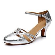 billige Moderne sko-Moderne Kunstlær Joggesko Trimmer Lav hæl Svart Sølv Kan spesialtilpasses