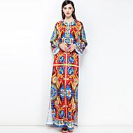 Žene Veći konfekcijski brojevi Boho Širok kroj Haljina - Osnovni, Cvjetni print Maxi