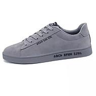 tanie Obuwie męskie-Męskie Buty Materiał Wiosna Lato Comfort Tenisówki Szurowane na Casual Na wolnym powietrzu Black Gray