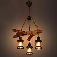 סגנון חלוד/בקתה קאנטרי סגנון קטן מנורות תלויות תאורה כלפי מטה עבור חנויות/ קפה 110-120V 220-240V נורה אינה כלולה