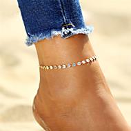 Boemski stil , Glina Pozlaćeni Kratka čarapa Gležanj Narukvica - Žene Zlato Pink Kratka čarapa Za Dar Bikini Izlasci