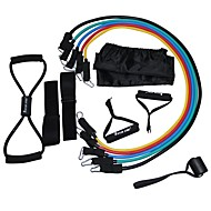 cheap Pilates-Resistance Bands Fitness Set With Door Anchor Handles Ankle Strap Figure 8 Resistance Tubing Resistance Bands Training