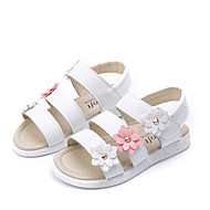 cheap Girls' Shoes-Girls' Shoes Leatherette Spring Summer Comfort Sandals for Casual White Yellow Pink