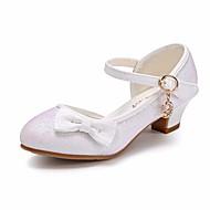 baratos Sapatos de Menina-Para Meninas Sapatos Glitter / Couro Ecológico Primavera / Outono Conforto / Sapatos para Daminhas de Honra / Salto minúsculos para Adolescentes Saltos para Dourado / Branco / Rosa claro