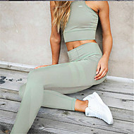 Žene Plava Crn Lila-roza Vojska Green Poliester Spandex Jednobojni Srednje Sportski Legging