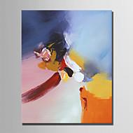 billiga Oljemålningar-Hang målad oljemålning HANDMÅLAD - Abstrakt Enkel Moderna Duk