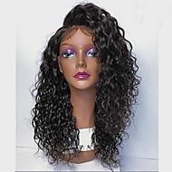 Jomfruhår Halvblonder uden lim / Blonde Front Paryk Brasiliansk hår Krøllet Paryk Med babyhår 130% / 150% / 180% Afro-amerikansk paryk / ubehandlet Dame Kort / Medium / Lang Blondeparykker af