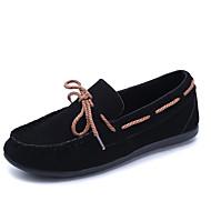 ieftine Pantofi Barcă de Damă-Pentru femei Pantofi PU Primăvară Confortabili Mocasini & Balerini Toc Drept Vârf rotund Funde pentru Casual Negru Rosu Kaki