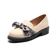 Women's Shoes Customized Materials Spring Fall Gladiator Light Soles Loafers & Slip-Ons Low Heel Round Toe Closed Toe Bowknot for Office