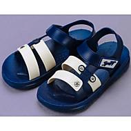 tanie Obuwie chłopięce-Dla chłopców Obuwie Skóra PVC Wiosna / Lato Comfort Sandały na Black / Niebieski