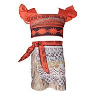 Kinder Mädchen Einfach Retro Alltag Sport Solide Langarm Standard Wolle Baumwolle Bambusfaser Kleidungs Set Orange