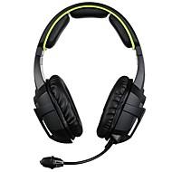 billiga Headsets och hörlurar-SADES SA-807 Headband Kabel Hörlurar Dynamisk Plast Spel Hörlur mikrofon headset